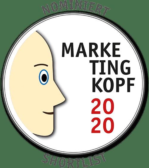 Nominiert zum Marketingkopf 2020